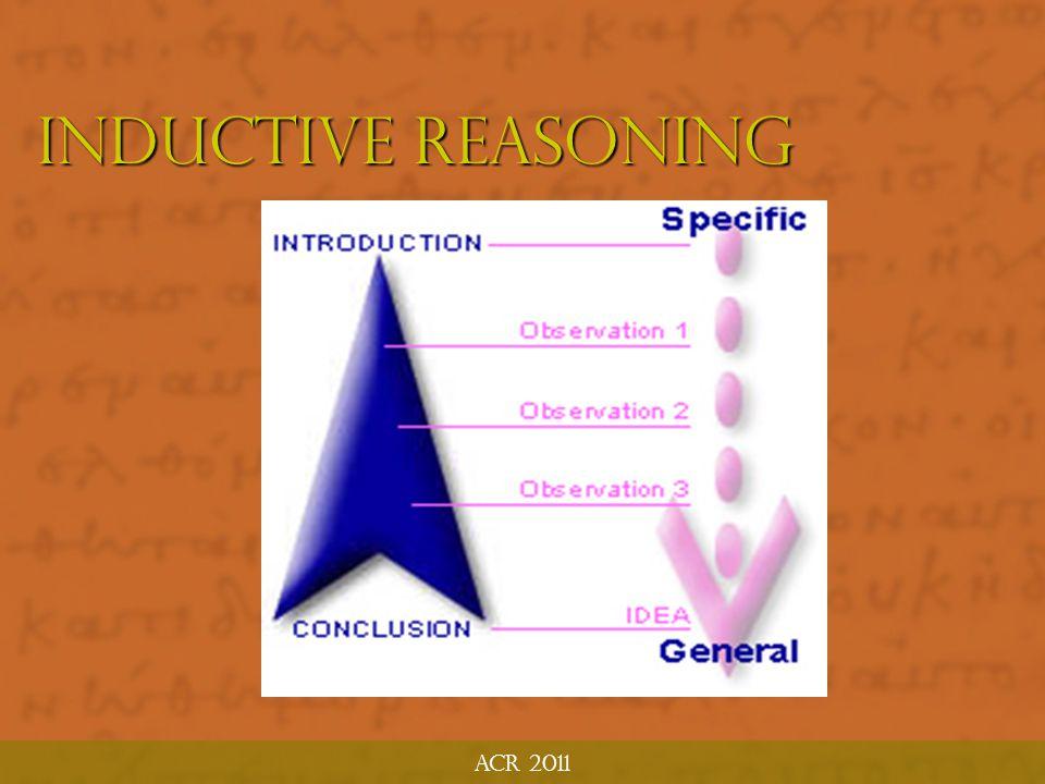ACR 2011 Deductive Reasoning