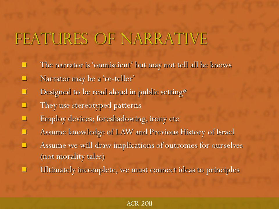 ACR 2011 Ten Principles: OT Narratives 6.