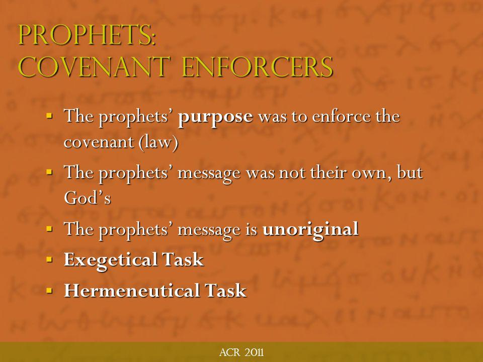The prophets ACR MTP June 2011