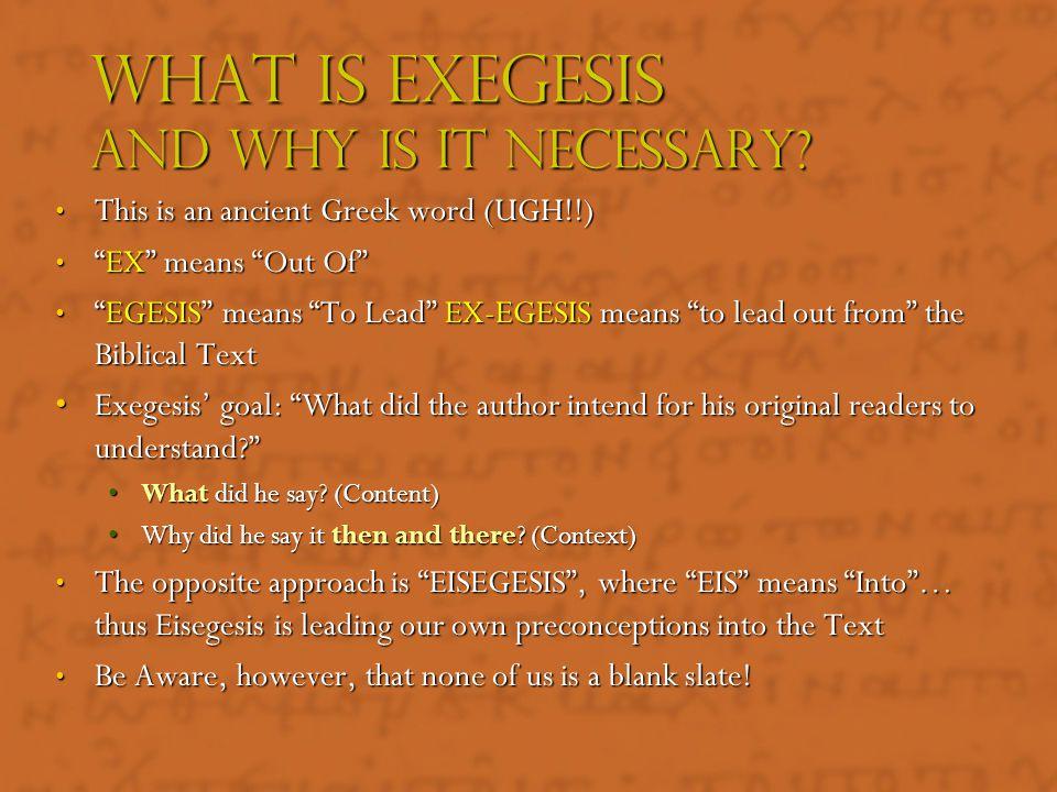 Biblical Exegesis ACR MTP June 2011
