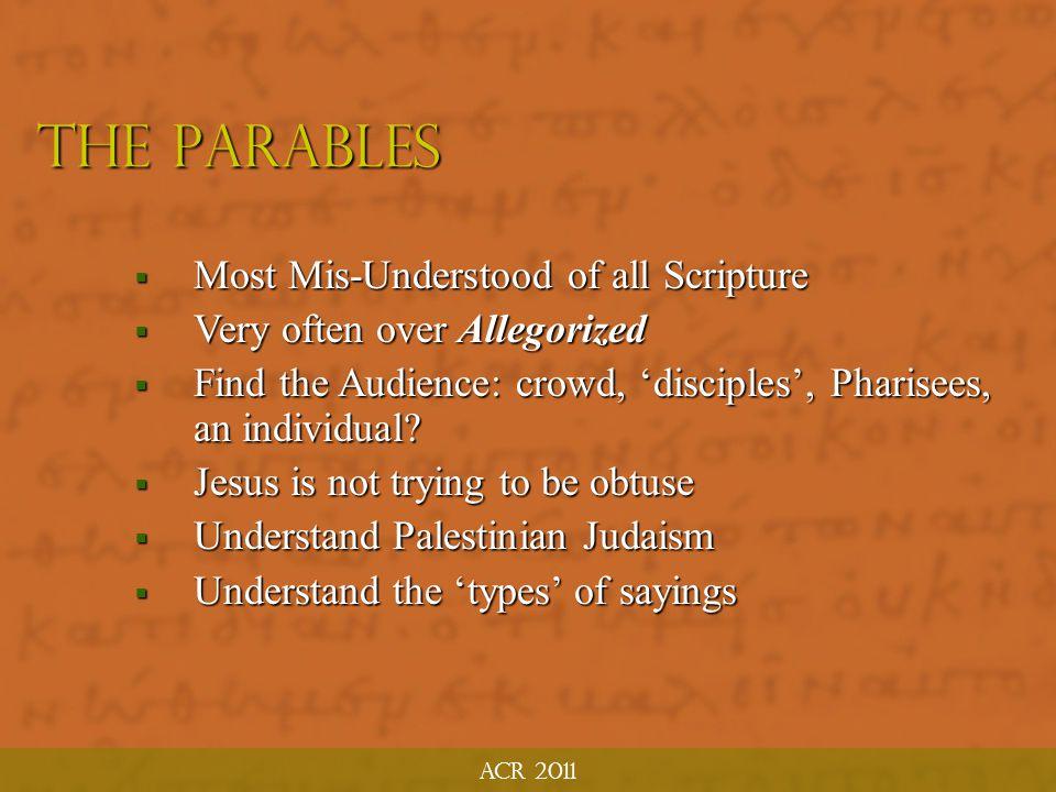 The Parables ACR MTP June 2011