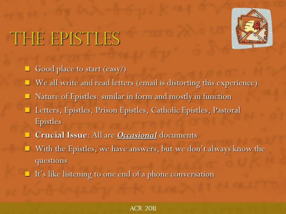 The epistles ACR MTP June 2011