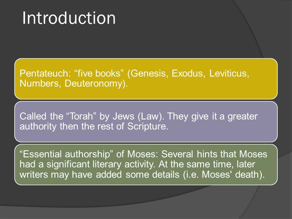 Introduction Name Leviticus comes from the Latin Vulgata (concerning the Levites) Date of composition: Around 1400 B.C.E Key verse: Lev.