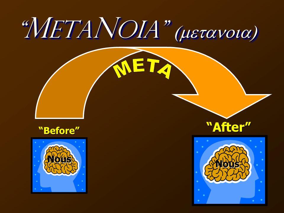 M eta N oia  Before After Nous Nous