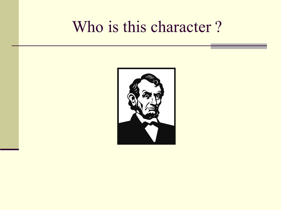 Who is this character