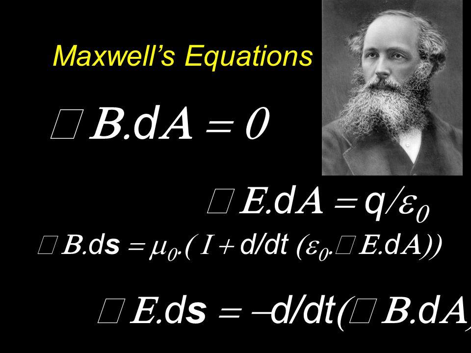  d  q    d   ds  d/dt  d   ds    d/dt    d  Maxwell's Equations