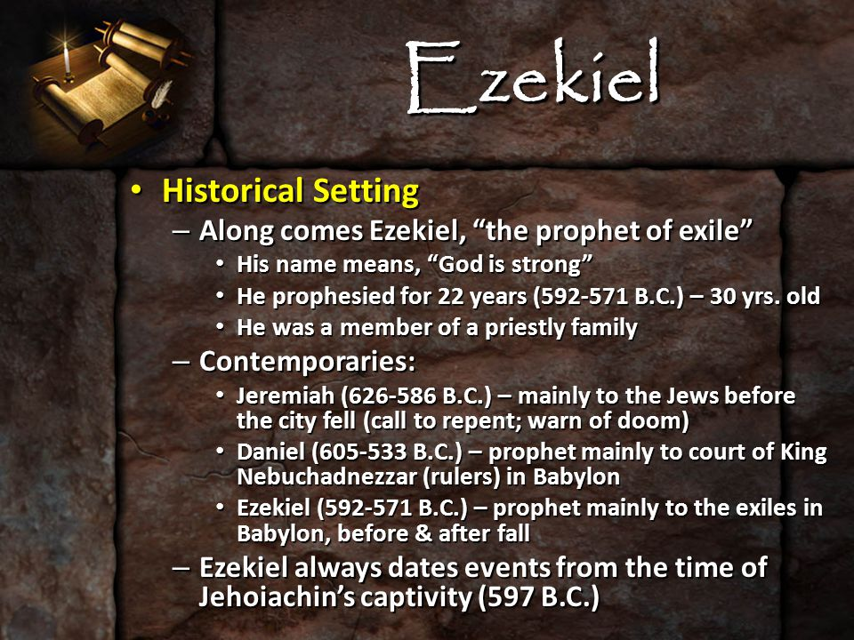 Ezekiel The Message of Ezekiel The Message of Ezekiel – First: To combat undue/errant optimism False prophets said captivity over in 2 yrs (Jer.