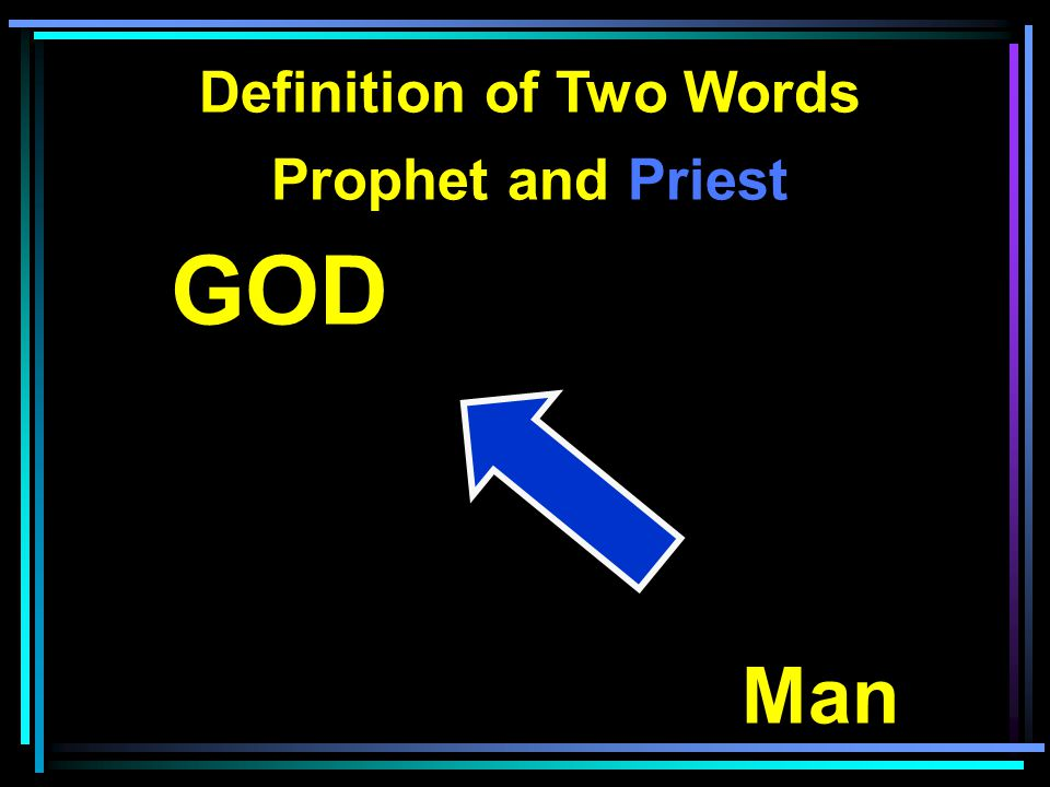 Definition of Two Words Prophet and Priest GOD Man