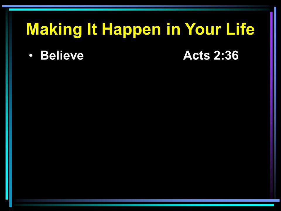 Believe Acts 2:36