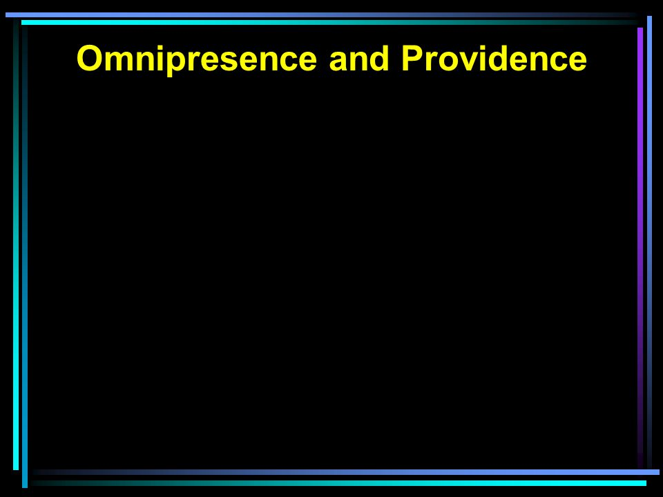 Omnipresence and Providence