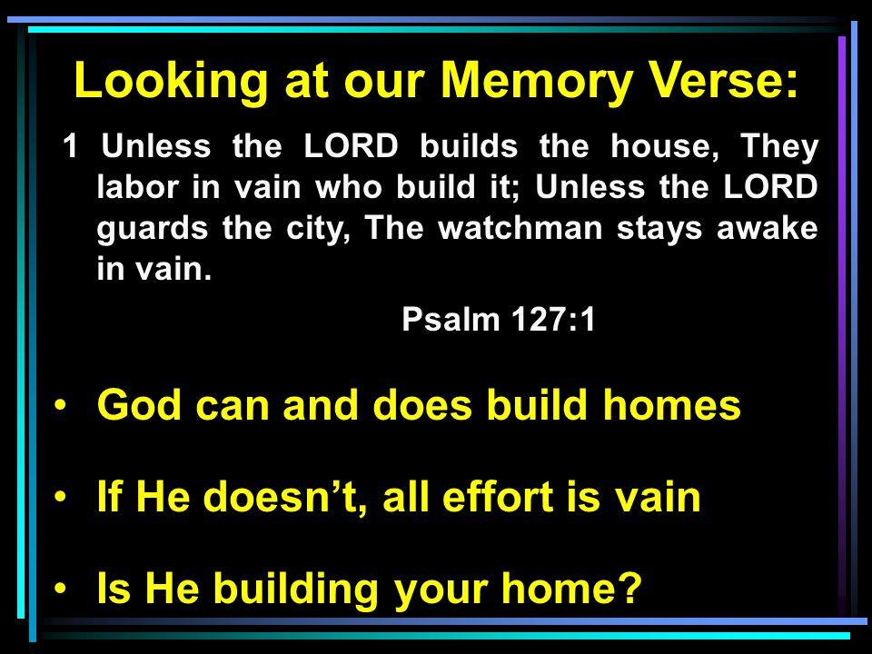 Let Him Build Your Home