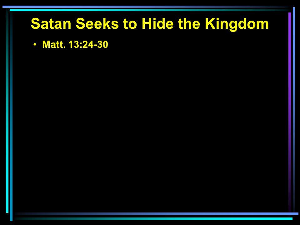 Matt. 13:24-30