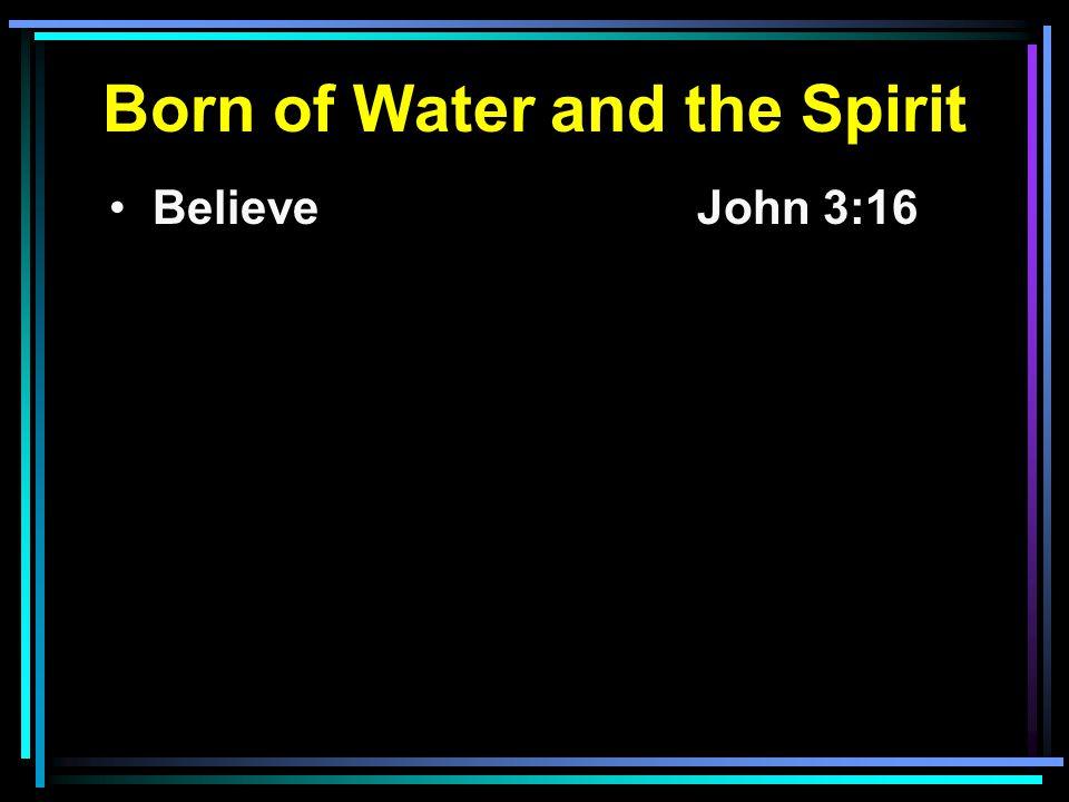 Believe John 3:16