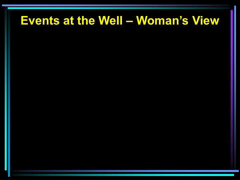 Events at the Well – Woman's View