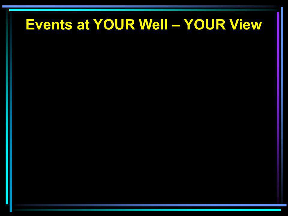 Events at YOUR Well – YOUR View