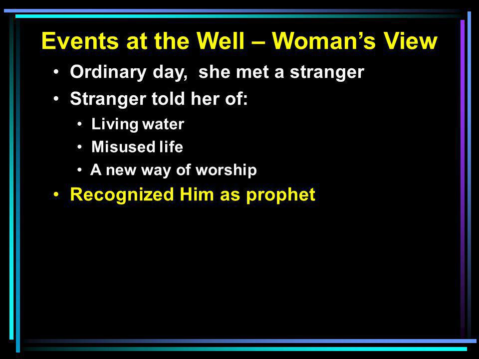 Finding the Living Waters Believe in HimJohn 3:16 Repent (Decide)Acts 17:30 Confess ChristRom. 10:9