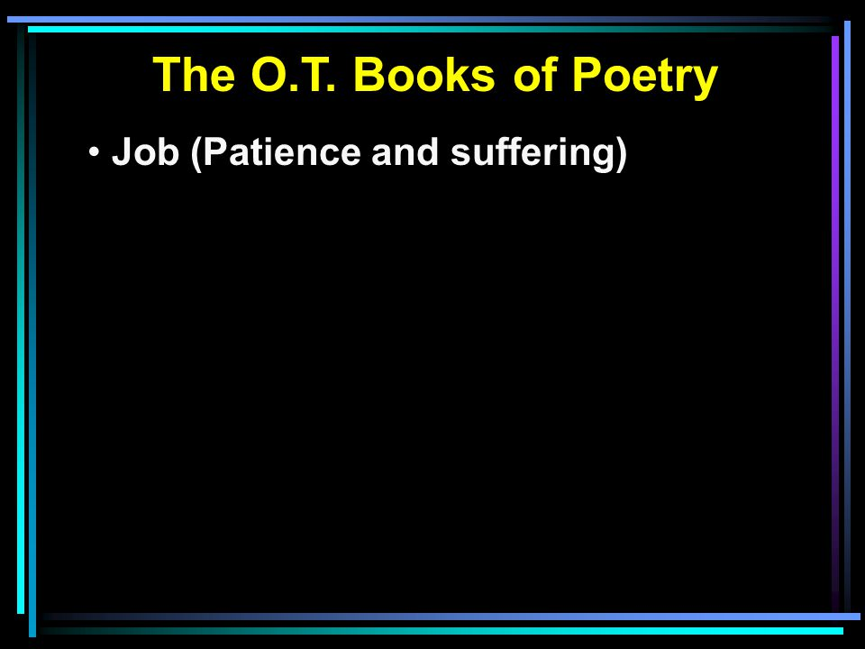 Job (Patience and suffering)