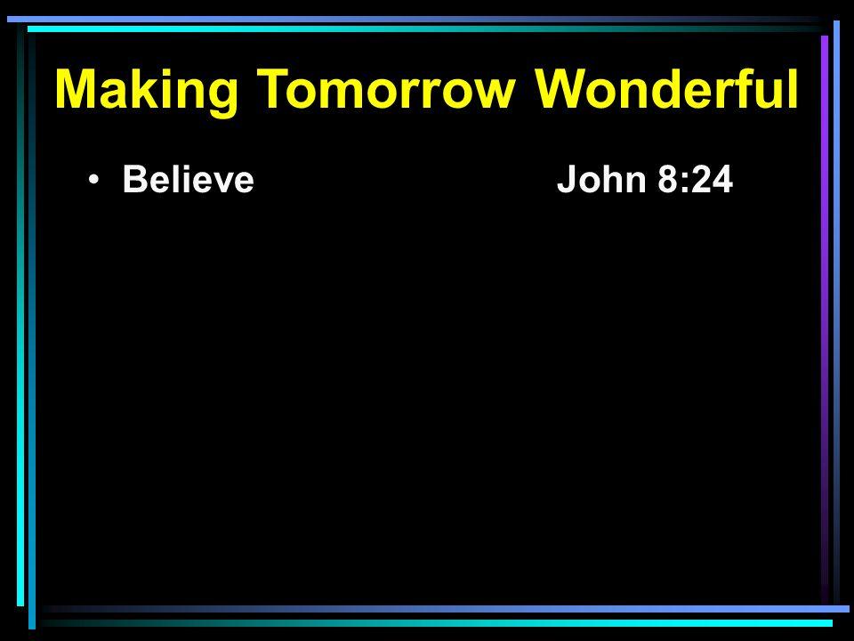 Believe John 8:24