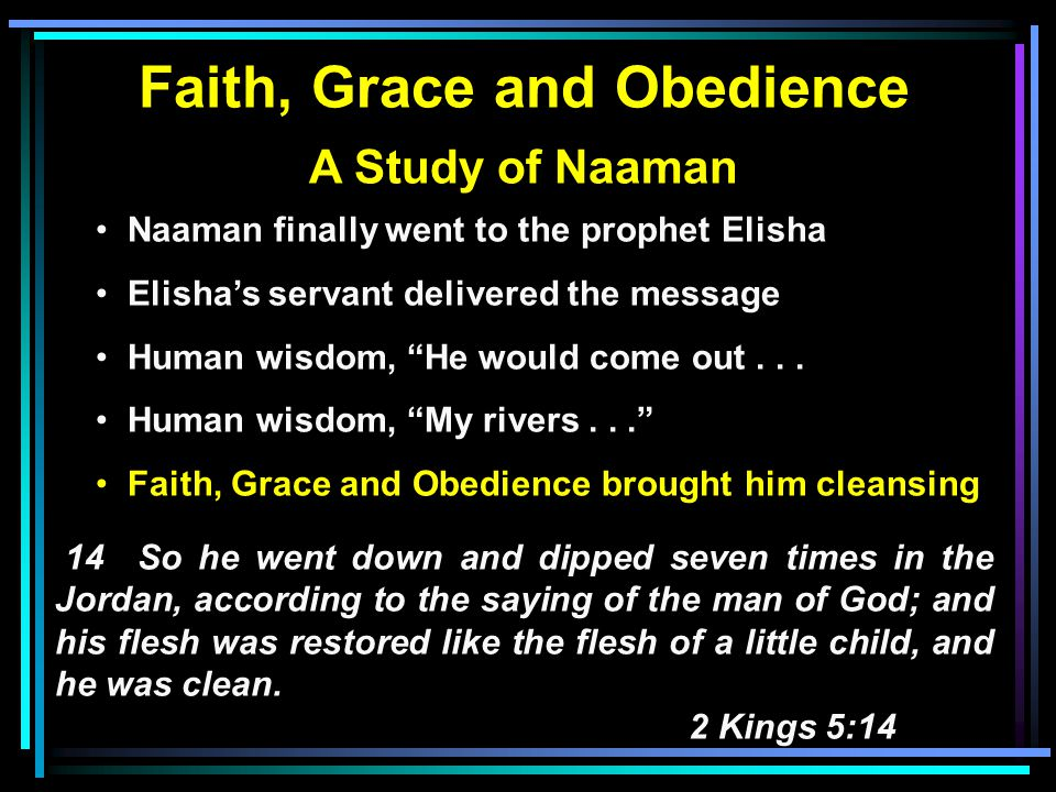 Faith, Grace and Obedience A Study of Salvation