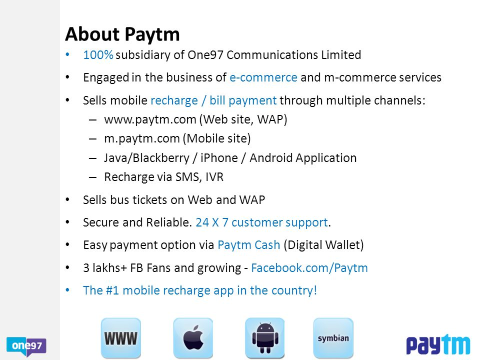 Paytm is India's biggest transacting website (after IRCTC).