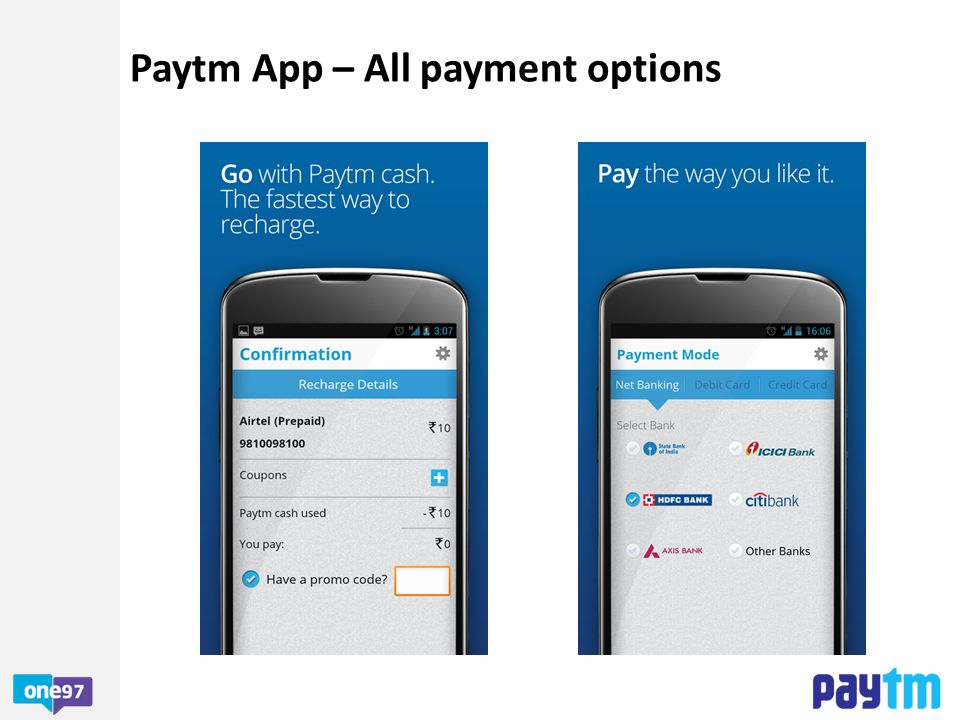 Paytm App – All payment options