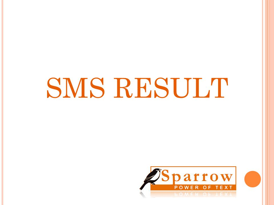 SMS RESULT