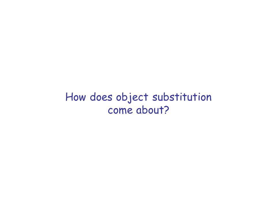 How does object substitution come about