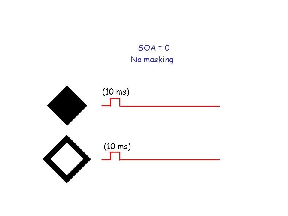 SOA = 0 No masking (10 ms)