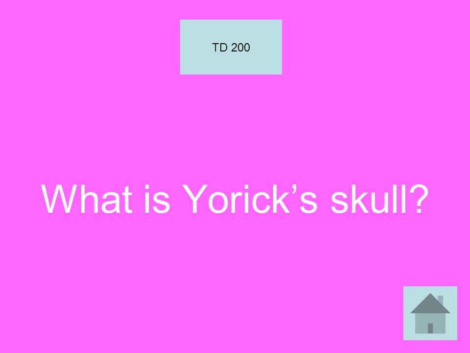 What is Yorick's skull TD 200