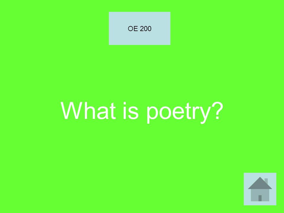 What is poetry OE 200