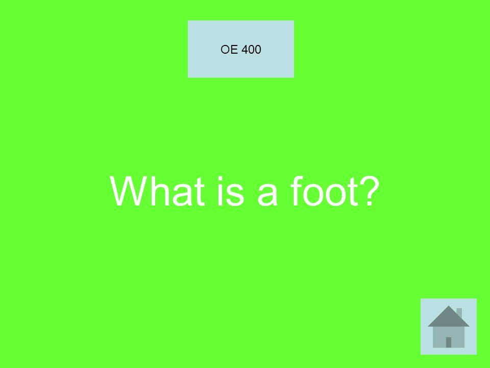 What is a foot OE 400