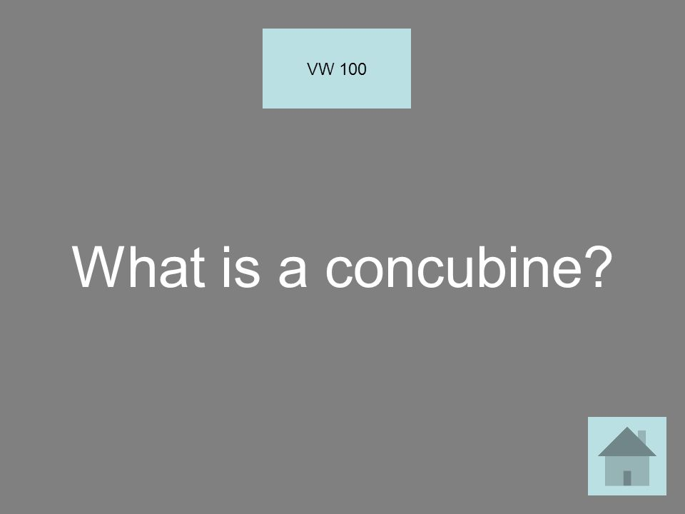 What is a concubine? VW 100