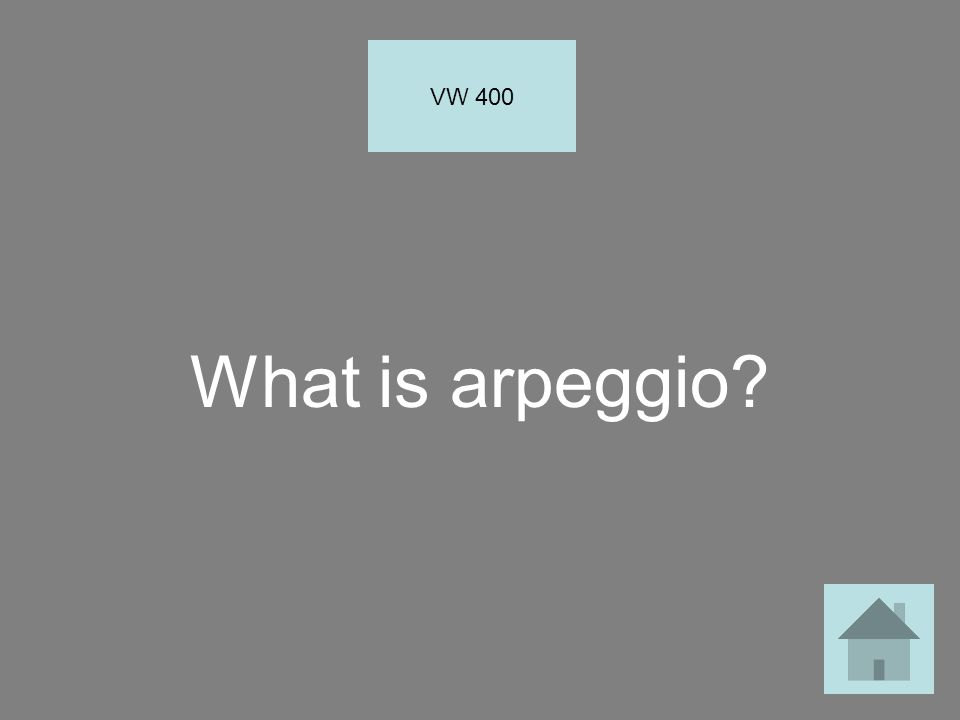 What is arpeggio? VW 400
