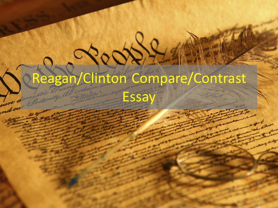 I. Reagan and Clinton both argue... but... A.Reagan argues B.Clinton argues