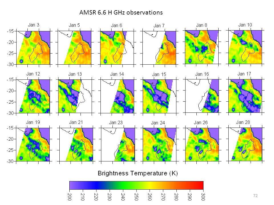 AMSR 6.6 H GHz observations 72