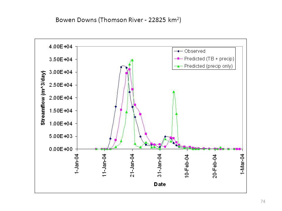 Bowen Downs (Thomson River - 22825 km 2 ) 74