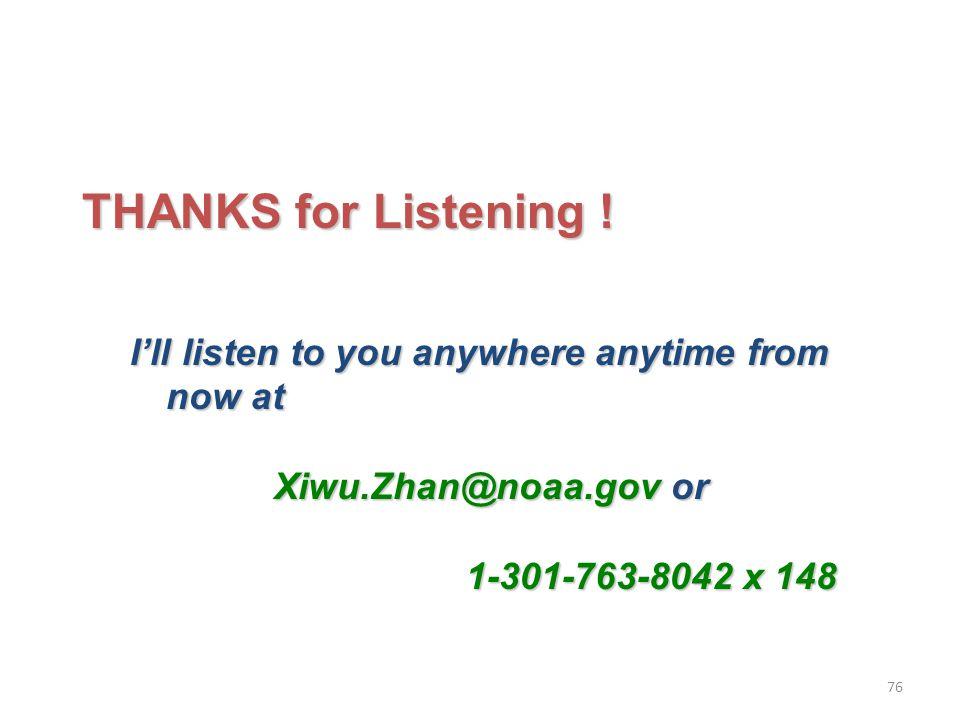 THANKS for Listening .