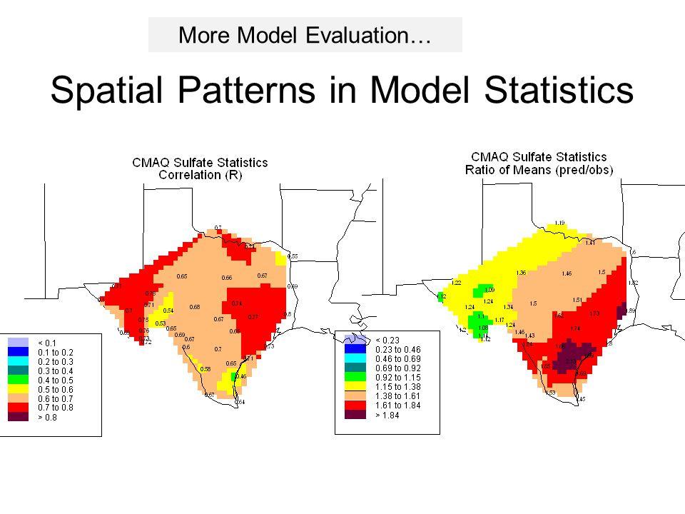 Spatial Patterns in Model Statistics More Model Evaluation…