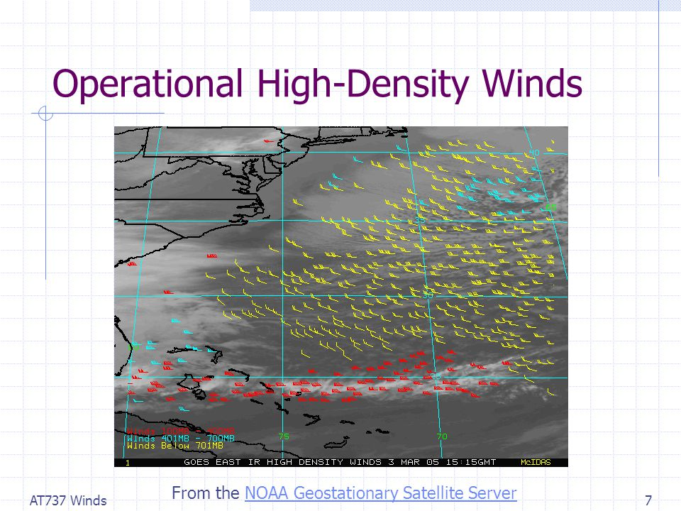 AT737 Winds7 Operational High-Density Winds From the NOAA Geostationary Satellite ServerNOAA Geostationary Satellite Server