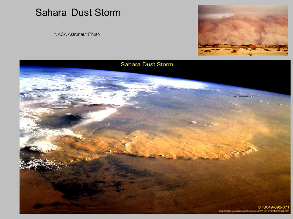 Sahara Dust Storm NASA Astronaut Photo