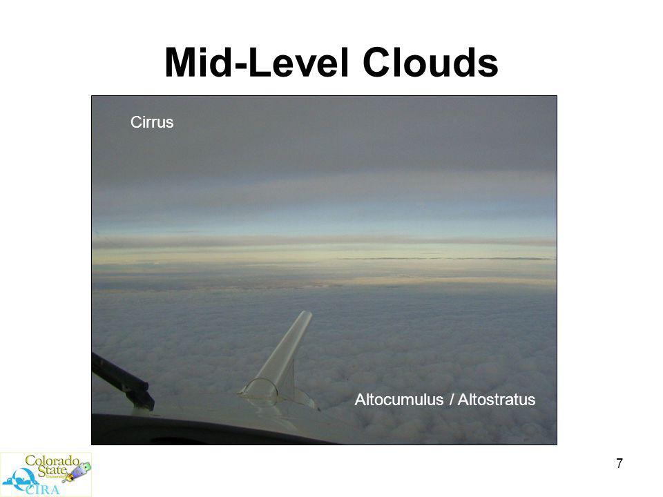7 Mid-Level Clouds Altocumulus / Altostratus Cirrus