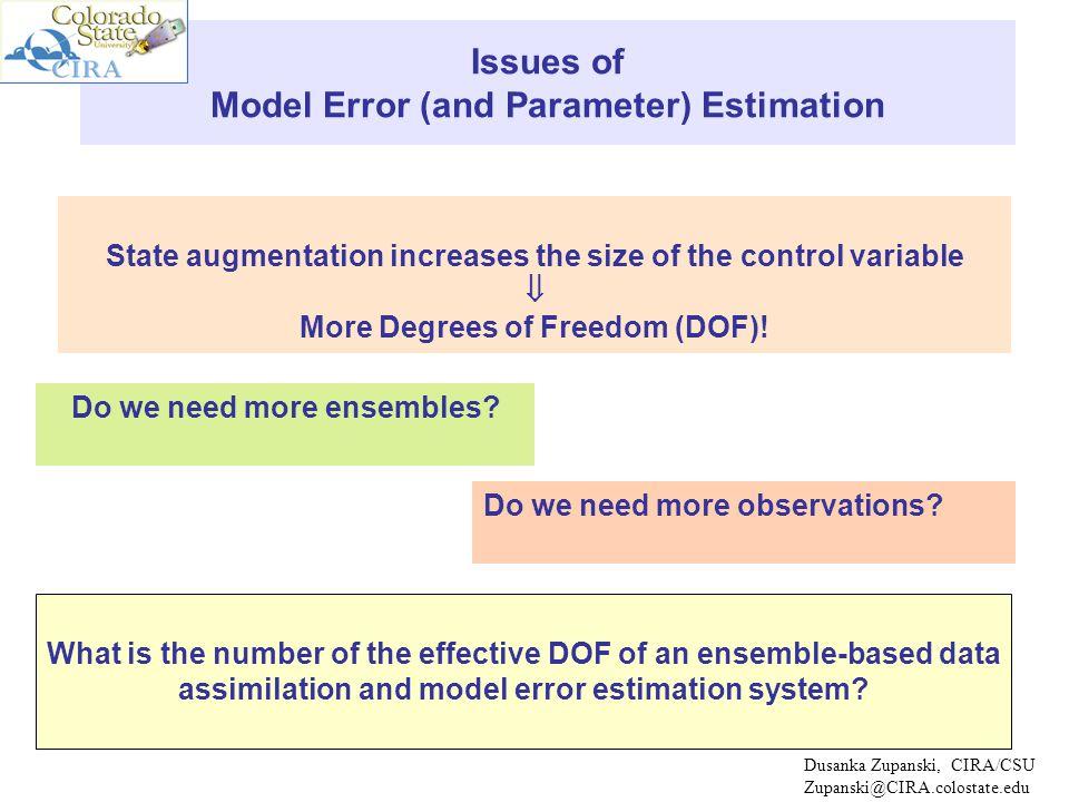 Dusanka Zupanski, CIRA/CSU Zupanski@CIRA.colostate.edu What is the number of the effective DOF.