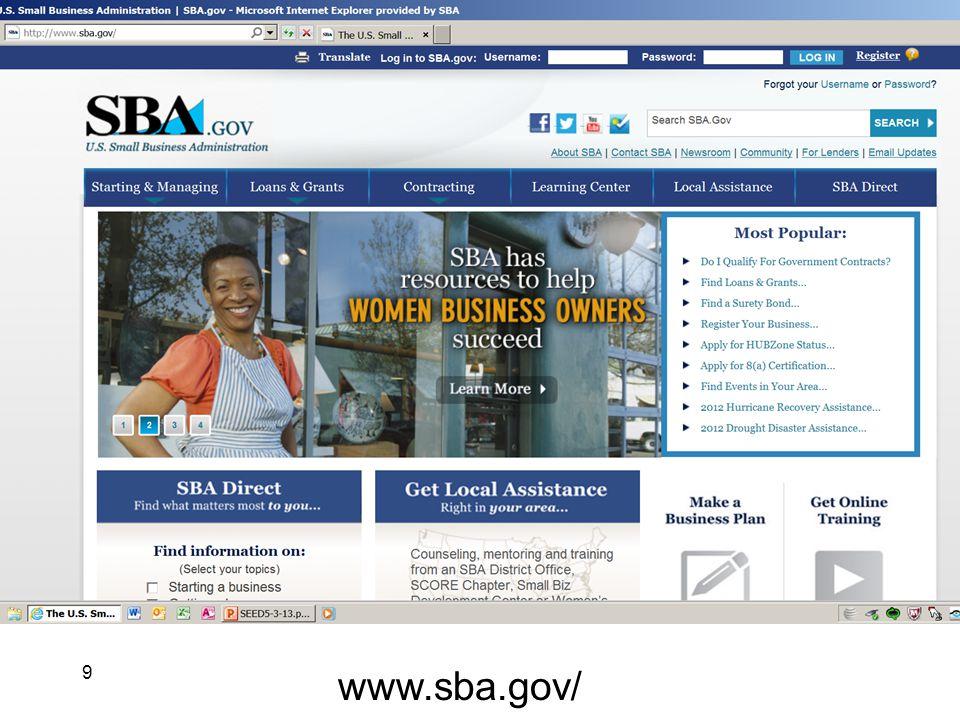 9 www.sba.gov/