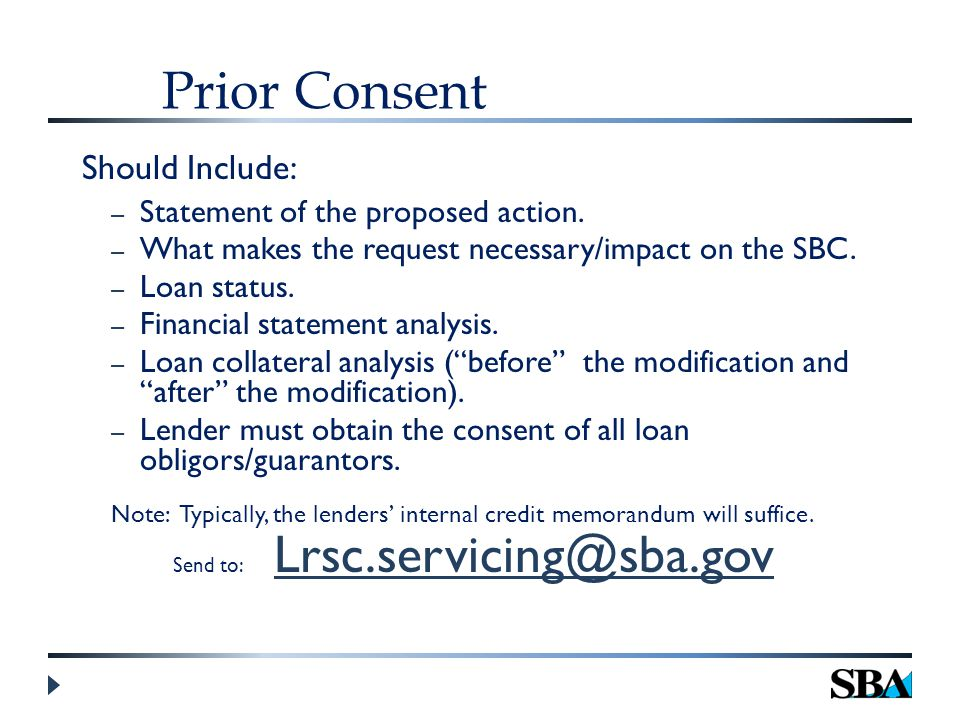 Prior Consent Should Include: – Statement of the proposed action.