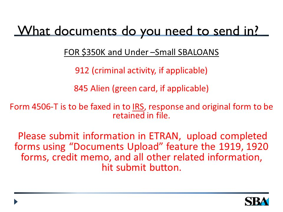 What documents do you need to send in.