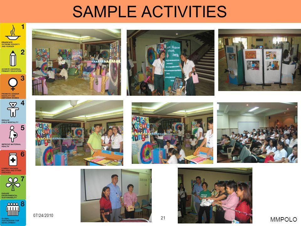 21 07/24/2010 MMPOLO SAMPLE ACTIVITIES