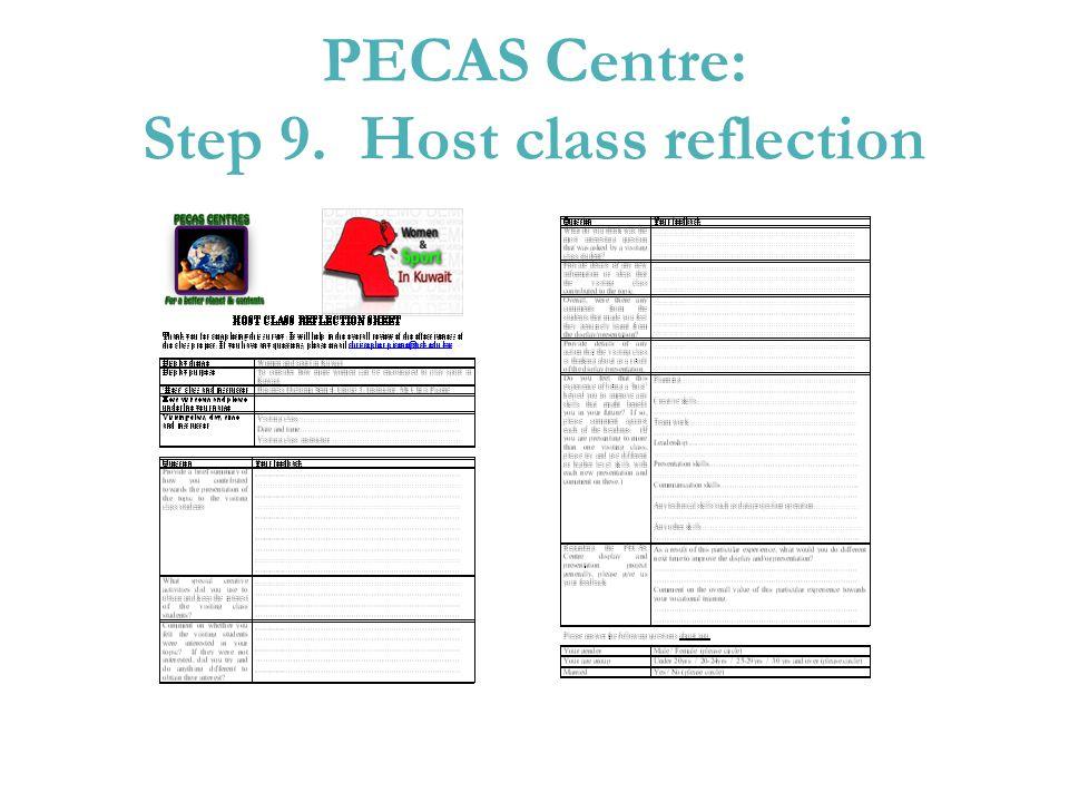PECAS Centre: Step 9. Host class reflection