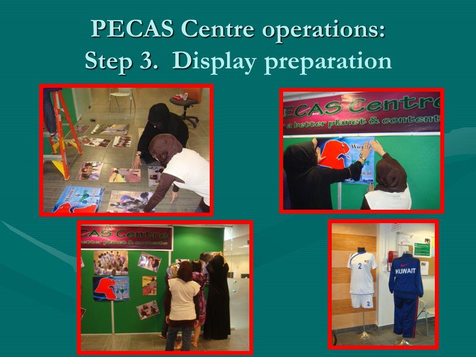 PECAS Centre operations: Step 3. D PECAS Centre operations: Step 3. Display preparation