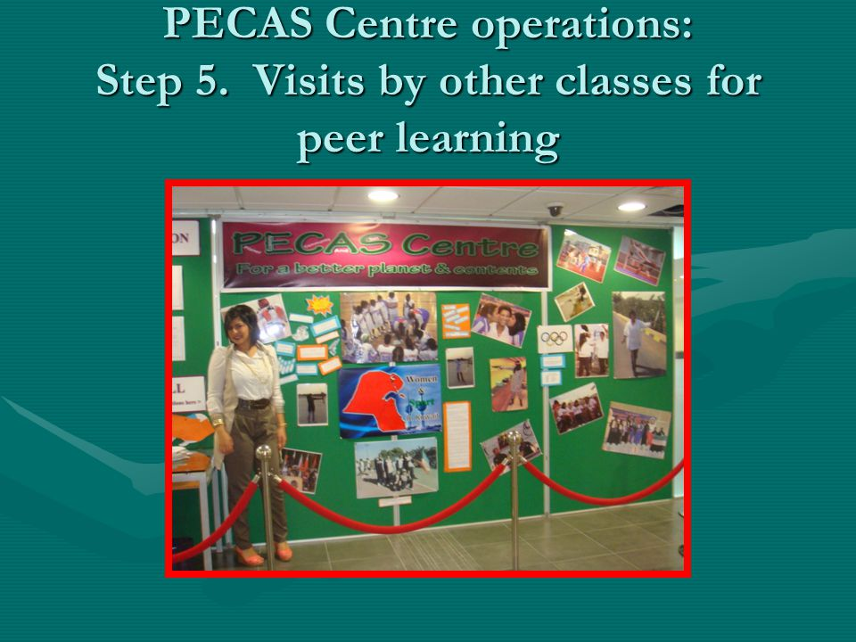 PECAS Centre operations: Step 5. Visits by other classes for peer learning