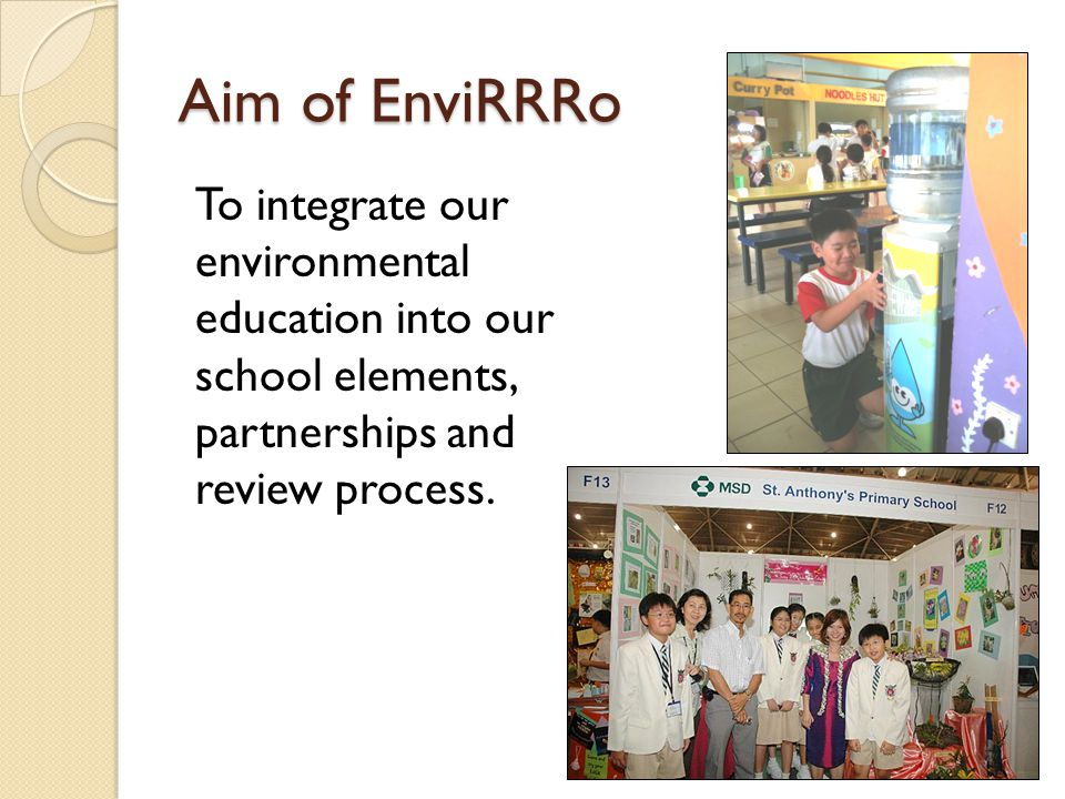 Our Awards Our school has been awarded the following for our efforts in Environmental Education MSD World Champions of the Environment award for 2006, 2007 and 2009 PUB Water Efficient Building 2008 and Watermark Award 2009 Green Audit Lotus 2010 NEA CASP Silver SWCDC Green Schools Silver